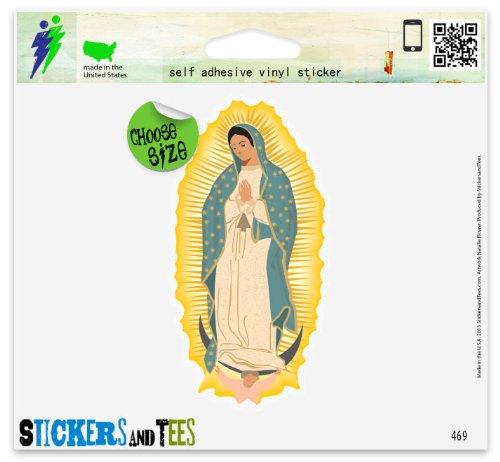 "Virgen De Guadalupe Vinyl Car Bumper Window Sticker 3"" x 2"""
