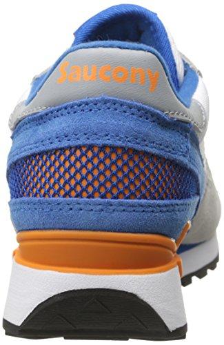 Saucony Hombre Shadow Original Trainers, Blanco blanco y azul