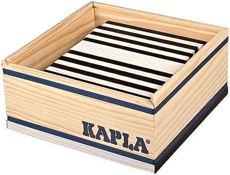 Kapla JUEGO DE CONSTRUCCION infantil con piezas de madera caja 40 und COLOR NEGRO Niños +3 años: Amazon.es: Juguetes y juegos