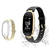 TOP-MAX Fitness Tracker HR Monitor Watch Band, Women Sport Activity Tracker Bracelet,Kids Waterproof Wristband Watch with Blood Pressure & Sleep Monitor,Calorie Counter,Pedometer for iPhone Android
