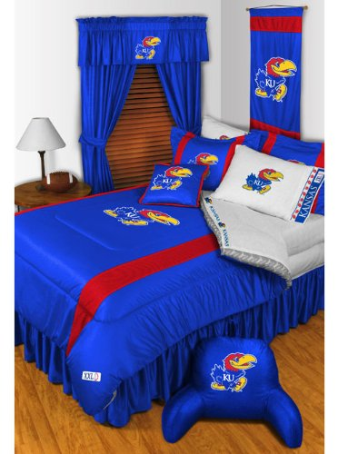 NCAA Kansas Jayhawks - 5pc BED IN A BAG - Queen Bedding Set by Store51
