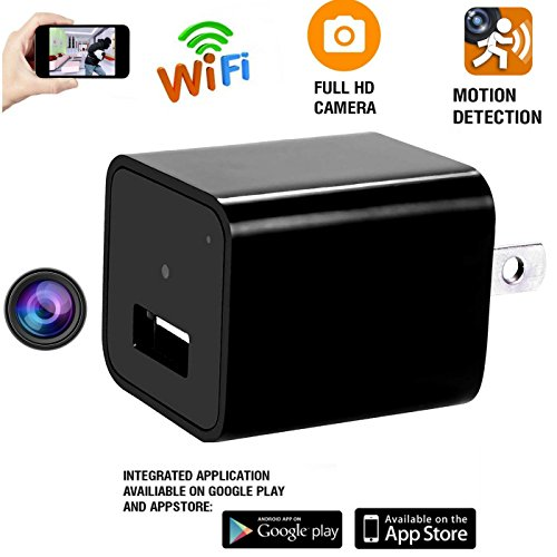 Hidden Camera Spy Nanny Recording Cam With USB Wall Charger (Large Image)