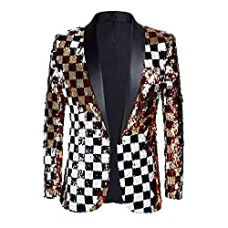 Men's Double Side Sequins Blazer