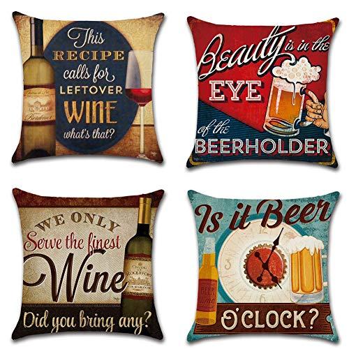 JYSD Retro Style Pillow Throw Pillow Cotton and Linen Case Cushion Cover Home Sofa Decorative Advanced Pillow 18 X 18…