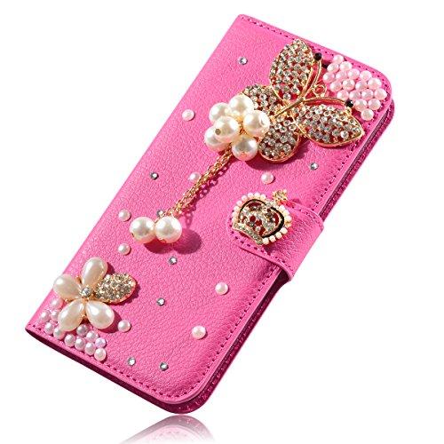 Alcatel Pixi 4 6.0 inch (3G Version) Funda, Lifeturt [ Nota musical ] Cubierta de la caja de cuero superior de la carpeta del libro para Alcatel Pixi 4 6.0 inch (3G Version) E02-04-rosada de la mariposa