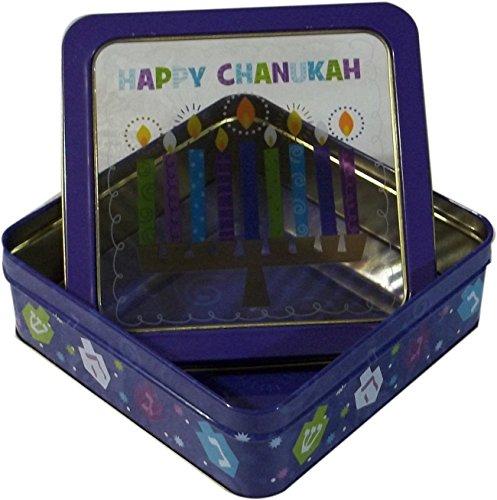 Hanukkah Cookie Basket - Chanukah Gift Box Medium - Large Cookie Box -Happy Hanukkah