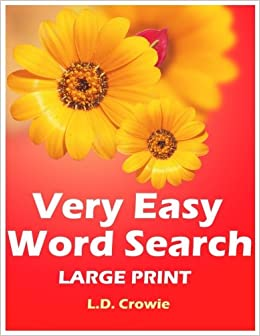 Very Easy Word Search Large Print