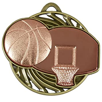 71235b392fc 50mm Bronze Vortex Basketball Medals in Plastic Box with Free engraving up  to 30 Letters + Free Ribbon GLEN/AM924B/143: Amazon.co.uk: Kitchen & Home