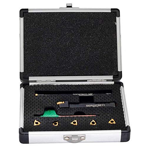 2301-1625 1//2 External INDEXABLE Threading Tool Holder /& Insert KIT