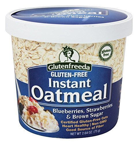 Glutenfreeda Blueberries, Strawberries and Brown Sugar Instant Oatmeal Cup, 2.64 oz