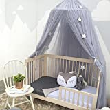 Bed Canopy Mosquito Net for Kids Baby Crib, Round