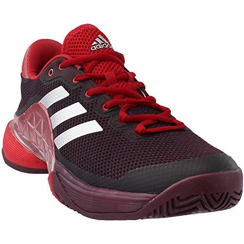 more photos 52520 d8eb8 adidas Mens Barricade 2017 Tennis Shoes, Dark BurgundyMatte  SilverScarlet (11