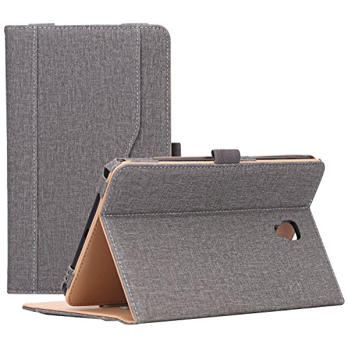 (Galaxy Tab A 8.0 Case for 2017 Model T380 T385 - ProCase Stand Folio Case Cover for 8.0 inch Galaxy Tab A Tablet 2017 T380 T385 -Grey)