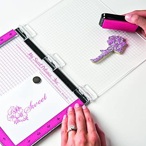 Misti Stamp Tool Original Size Stamp Positioner; From the Makers of Creative Corners Positioners and Cut-Align Rulers; Includes Bar Magnet and Foam Pad; The Most Incredible Stamp Tool Invented