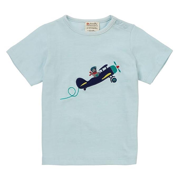 Piccalilly, Camiseta, Jersey de algodón orgánico, niños, avión: Amazon.es: Ropa y accesorios