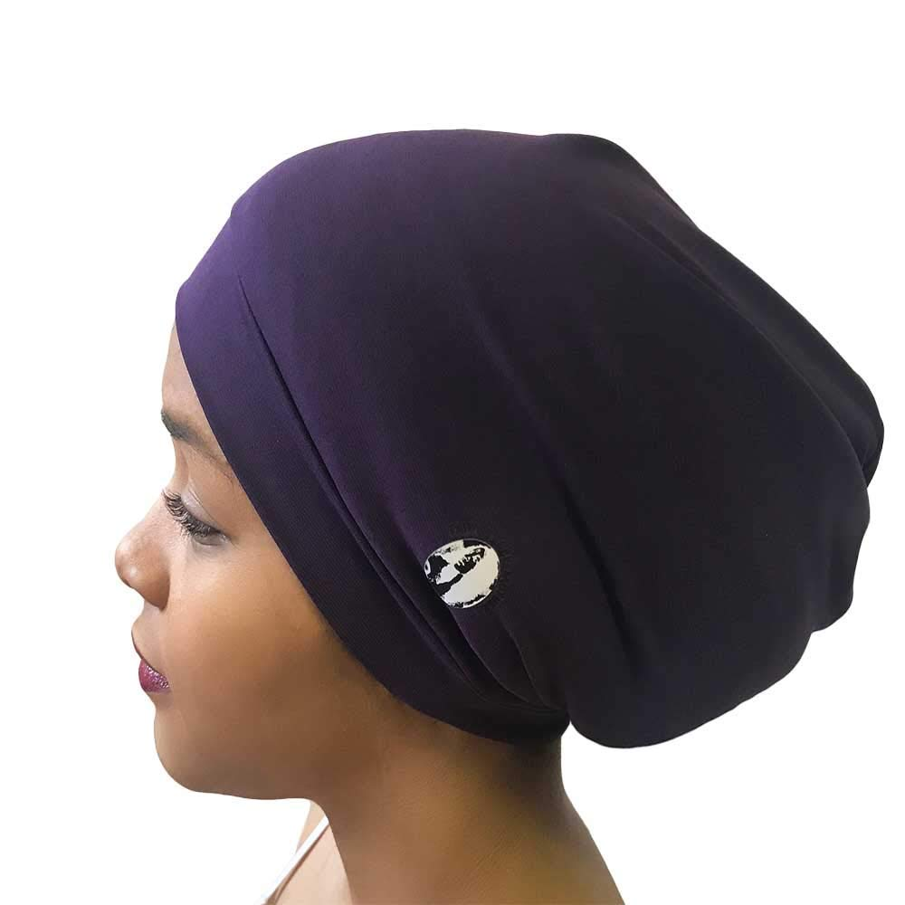 Fairy Black Mother Dreadlocks Locs Cap (Medium, Plum Purple) by My Fairy Black Mother