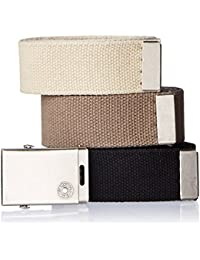 Men's Cut To Fit 3 Pack Web Belt With Buckle