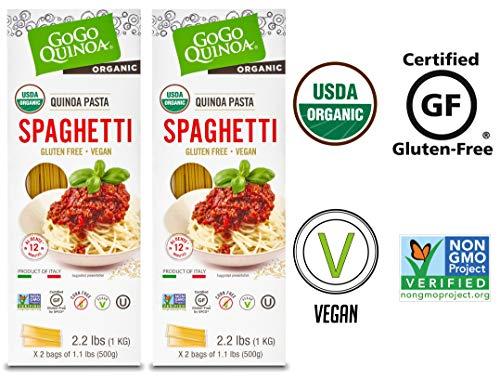GoGo Quinoa Organic, Gluten Free Spaghetti. Vegan, Non GMO and Corn Free 4.4 lbs