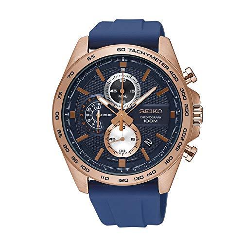 Tachymeter Chronograph Gents Watch - Seiko Quartz Watch SSB290P1 - Silicon Gents Quartz Chronograph