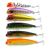 6pcs/lot Fishing Lure 6color 9.5cm/11.7g top water magician Popper fishing tackle Popper Lure For Sale