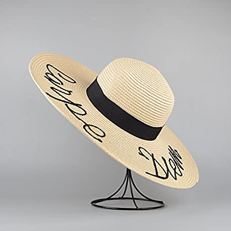 2ea9a705290 ALWLj Summer Women Sun Hat Ladies Wide Brim Straw Hats Foldable Beach  Panama Hats Church Hat