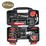 39 Piece home repair tools tool set Multi-Tool Kit general repair hand tool set with tool box storage case 80001M
