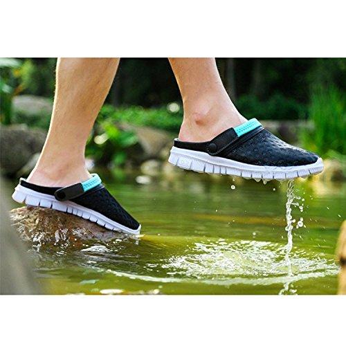 Highdas Paare Hausschuhe Garten Schuhe Mesh Breathable Sommer Hausschuhe Sport Sandalen Strand Casual Walking Anti-Rutsch-Kunststoff-Mesh-Schuhe Blau