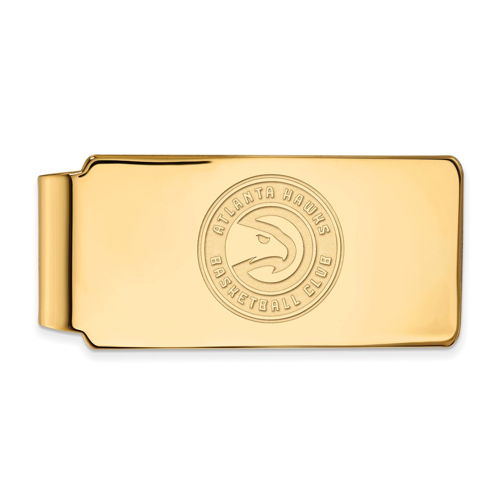 NBA Atlanta Hawks Money Clip in 18k Yellow Gold Flashed Silver by LogoArt