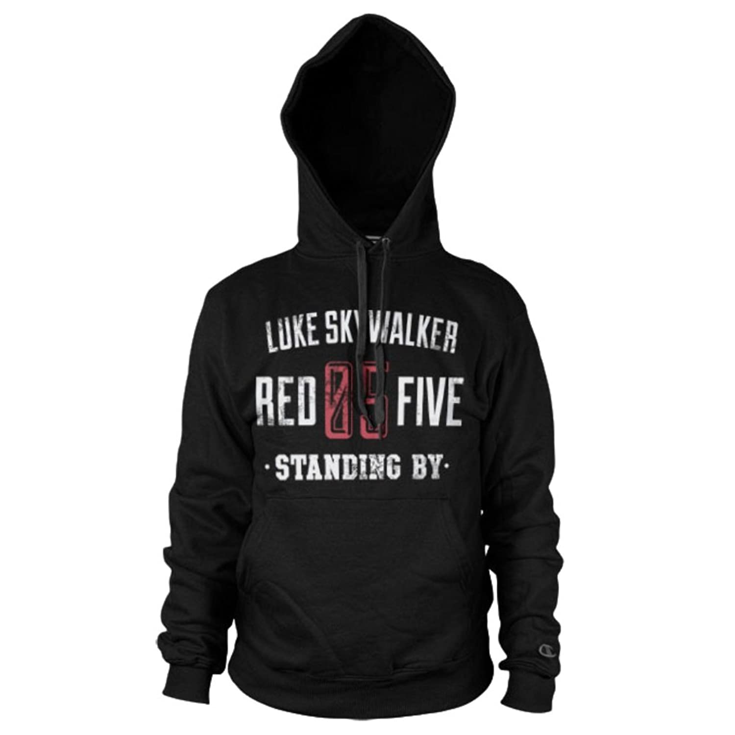 Official Luke Skywalker Red 5 Standing By Black Hoodie Hooded Sweater for cheap