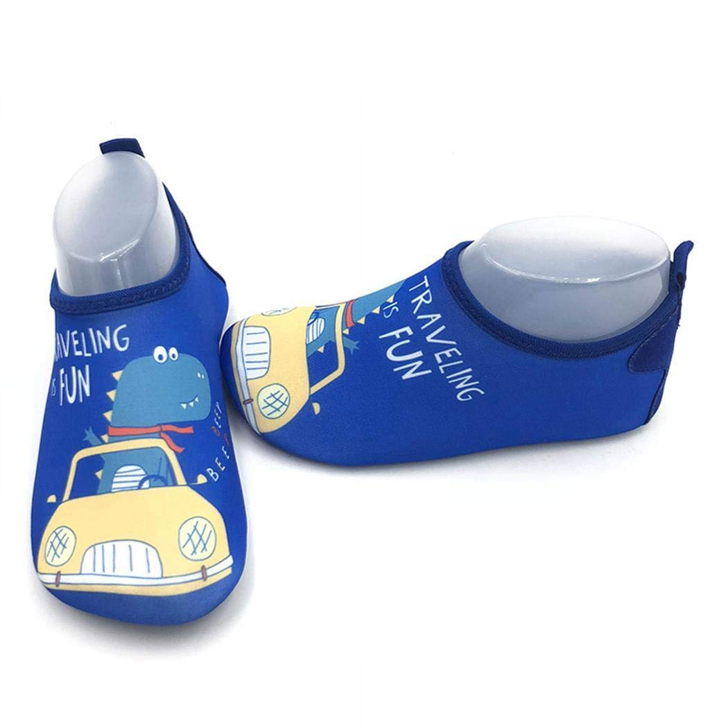 Eubell Children Swimming Shoes Cartoon Rubber Sole Anti-slip Anti-hurt Diving Shoes