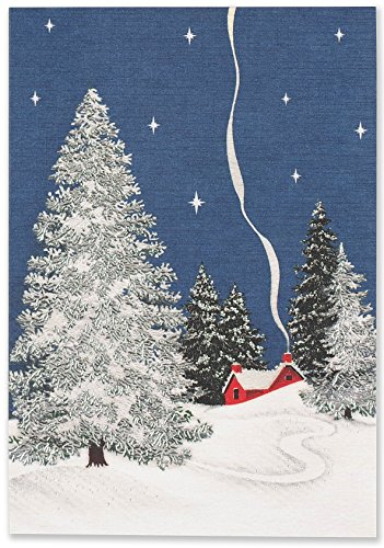 Winter Cottage Small Boxed Holiday Cards (Christmas Cards, Greeting Cards) (The Best Christmas Greetings)
