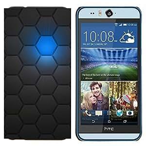 TECHCASE---Cubierta de la caja de protección para la piel dura ** HTC Desire Eye ( M910x ) ** --Patrón de Sci Fi Robot Futurista