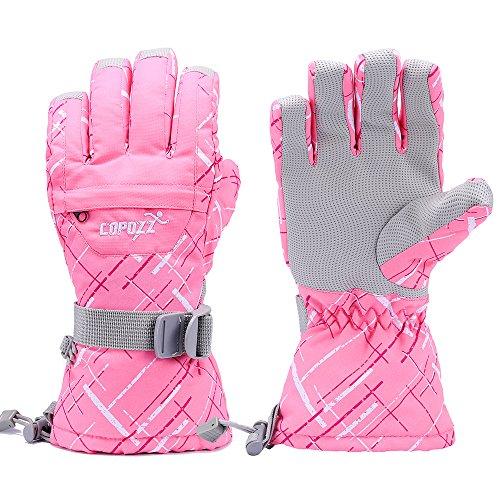 COPOZZ Waterproof Ski Snowboard Gloves for Men Women & Kids Thinsulate Winter Insulated Motorcycle Snowmobile Warm Gloves w/ Zippered Pocket
