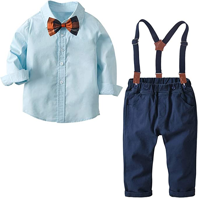 Pant YALLET Little Boys Gentleman Long Sleeves Suit Set Baby Boy Gentleman Outfits Suit with Vest Shirt and Bow Tie