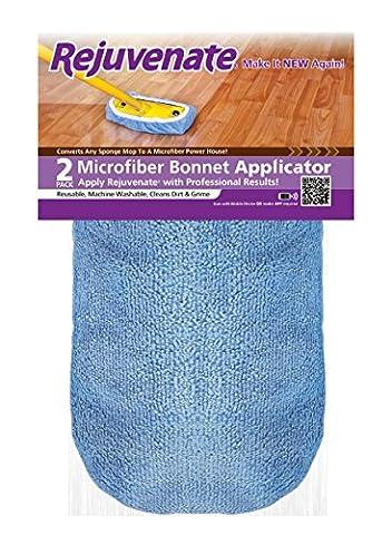 """Rejuvenate Microfiber Bonnet Applicators Fits Standard 9"""" Sponge Mop Head - Washable and Reusable Microfiber Mop Bonnets – - 9 Applicators"""