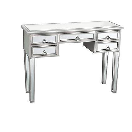 Amazon Com Ssline Mirrored Makeup Desk Vanity Dressing Table With 5