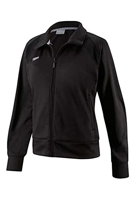 74eefb8fb30 Amazon.com: Speedo Youth Sonic Warm Up Jacket (Unisex) Black S ...