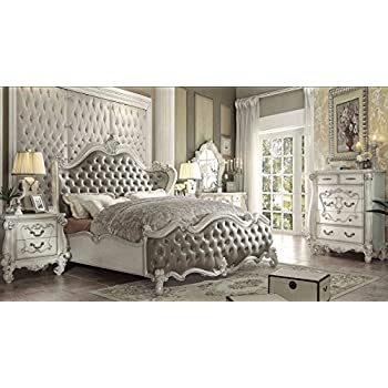 Amazon.com: ACME Versailles Bedroom Set with Queen Bed, Nightstand ...