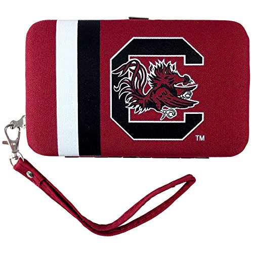 ncaa-south-carolina-fighting-gamecocks-shell-wristlet-35-x-05-x-6-inch-red