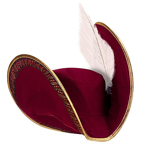 Disney Captain Hook Hat for Kids Red ()