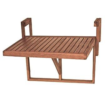 Harms Table Suspendue Pour Balcon 100 Fsc Eucalyptus Huile Mobilier