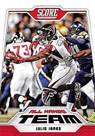 Score Card Art amp; Football All 2018 Atlanta Jones Fine 5 Collectibles Team Amazon Julio Falcons com Hands