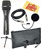 Audio-Technica AT2020USBi Cardioid Condenser USB Microphone Bundle with Gear Bag, Pop Filter, and Austin Bazaar Polishing Cloth