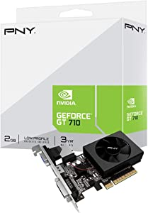 PNY NVIDIA GeForce GT 710 2GB DDR3 VGA/DVI/HDMI Low Profile PCI-Express Video Card