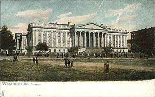 Treasury Building Washington, District Of Columbia Original Vintage Postcard