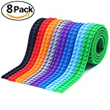 Qwer Silicone Non Toxic Safe Building Blocks Tape Collection Construction Self Adhesive, 8 Rolls