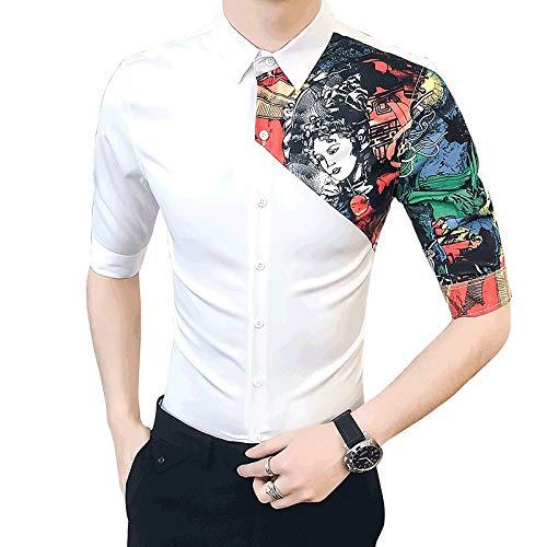 IYFBXl Männer Geschäft Basic Shirt - Porträt
