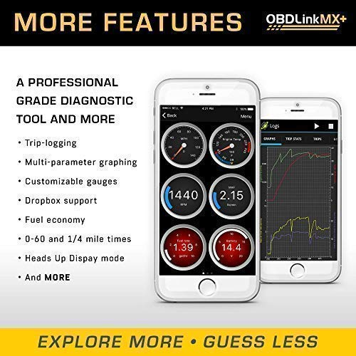 OBDLink MX+ Bluetooth OBD2 Scanner Turns Your iPhone, iPad, Android, Kindle Fire or Windows Device into a Professional-Grade Diagnostic Scan Tool, Trip Computer, and Real-time Performance Monitor. by OBDLink (Image #6)