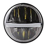 883 sportster driving lights - 2018 New 5-3/4 5.75 Inch Round 45w Halo LED Headlight for Harley Davidson XL1200C XL883C Triple Low Rider Wide Glide 883 Sportster Headlamp Projector Driving Light Black