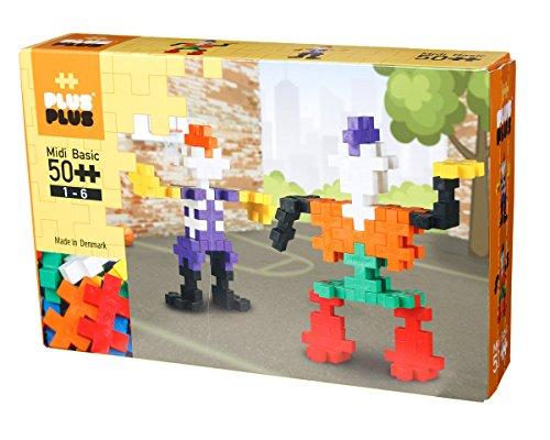 Plus-Plus BIG - Preschool Construction Building Toy, Open Play Set - 50 Piece - Basic Color Mix